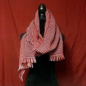 EUC red, white & black patterned scarf.